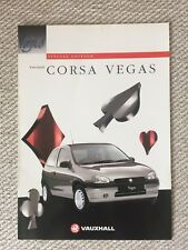 VAUXHALL CORSA VEGAS SPECIAL EDITION CAR BROCHURE 1996