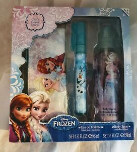 Disney FROZEN Eu De Toilette, Body Spray & Clutch, Set of 3, New