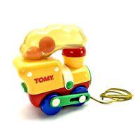 Tomy Rare Vintage big fun puffa chuffa Train 1990's Popping pull along Toys vgc