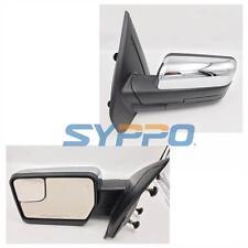 Chrome Cap For 07-14 F150 Pickup Side View Manual Mirrors LH RH PAIR SET
