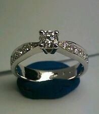 Anello Solitario oro bianco 18 kt diamanti 0,70 ct - promessa Matrimonio