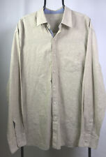 Age of Wisdom Men's Linen Button Down Long Sleeve Casual Shirt XXL