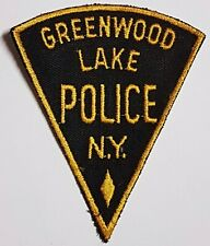 OLD VINTAGE 1ST STYLE GREENWOOD LAKE POLICE PATCH NY NEW YORK - CUT EDGE
