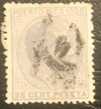 Puerto Rico: 1880: Used SC # 38. Lot # 11229