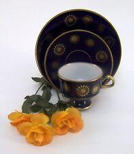 Sammelgedeck DDR Lichte Porzellan 24 Karat Gold 1822 Echt Kobalt Fine China