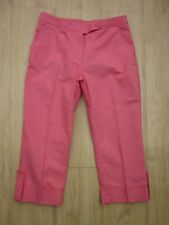 Marks & Spencer Coral Pink  Crop Trousers Size 12 VGC