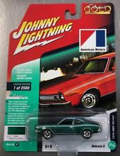 JOHNNY LIGHTNING 1974 AMC HORNET CLASSIC GOLD GREEN RR TIRES RELEASE 1 FREE SHIP