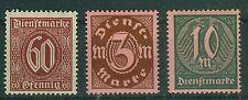 Deutsches Reich Dienstmarken 66 - 68 , ** , * , o