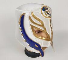 White Real Madrid Soccer Wrestling Mask