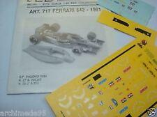 FERRARI 642 F1 GP PHOENIX 1991 PROST-ALESI DECALS 1/43