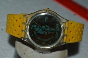 1994 Swatch Watch GZ-136 ATLANTA 1996 OLYMPICS SPECIAL Swiss Quartz 34mm Used