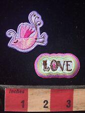 PEACE DOVE & LOVE Patch Bling Decoration! 76V4