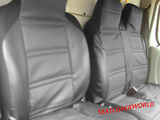 FORD TRANSIT - LUXURY PADDED LEATHER LOOK VAN SEAT COVERS - SINGLE + DOUBLE