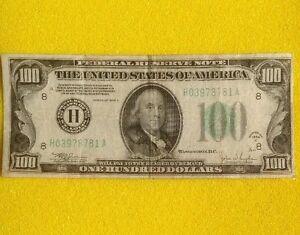 1934 C $100 Dollars Bill