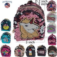 Women Girls Zipper Coin Purse Pouch Mini Backpack Bag Charm Keychain Wallet(2)