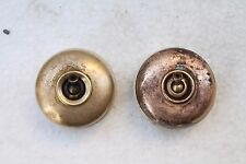 2 Pc Antique Vitreous Electric Brass & Ceramic Switches Made In Germany NH3320