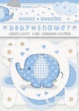 UMBRELLAPHANTS Blue Babyshower Jointed LETTER BANNER (Party/Decoration)