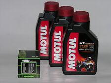 3 LT LITRI OLIO moto MOTUL 7100 10W40 + FILTRO OLIO 100% Sintetico NEW Ester 4 T