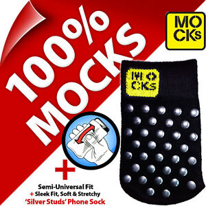 Mocks Studded Mobile Phone MP3 Sock Case Cover Pouch for iPhone 4S 5 5S 5C SE