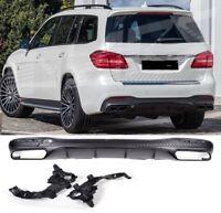 Für Mercedes-Benz GLS W166 AMG Look Diffusor Stoßstange Auspuff Grill #01