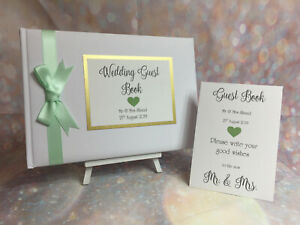 PERSONALISED HEART WEDDING GUEST BOOK & SIGN Anniversary / Engagement / Birthday