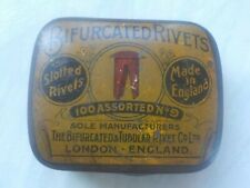 Vintage Leather Working Bifurcated Rivets and Tin