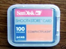 New Sandisk 64MB Compact Flash CF Card 64 mb+Free case