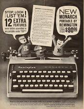 1961 vintage AD, REMINGTON 'Monarch', Portable Typewriter  -031414