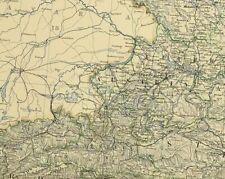 1880 Antik Landkarte Austro Hungarian Monarchy Wien Stadt Plan Tyrol Bohème