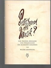 Abendroth, Walter; Selbstmord der Musik