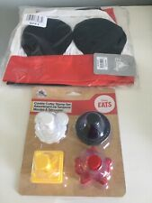 Mickey Mouse Apron & Chef's Hat Set For kids & Disney Eats Cookie Cutter Stamps