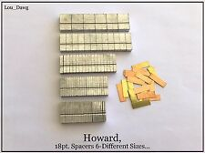 Howard Machine Personalizer (18pt. Spacers 6-Sizes ) Hot Foil Stamping Machine