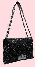 MARC JACOBS 'Baroque' Quilted Studded Black Leather Shoulder Bag Msrp $2,350