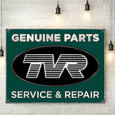 TVR Genuine Parts Metal Wall Sign Garage Cars Mens Gift Decor 30x41cm 50157