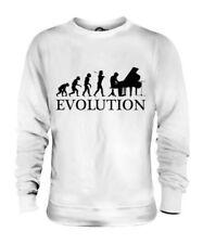 Piano de Cola Evolution Of Man Unisex Suéter Regalo Hombre Mujer Músico