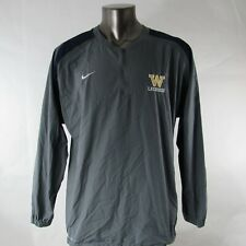 Nike Storm Fit L Large Windbreaker Jacket Training W Lacrosse Embroidered Gray