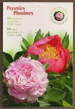 Canada - Booklet Pane of 10 - Flowers: Peonies / Pivoines #2262b (BK369) - MNH