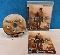 Call of Duty: Modern Warfare 2 (Sony PlayStation 3, 2009) with Manual - Working