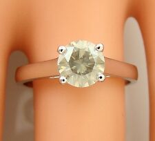 1.06 ct solitaire real diamond wedding engagement ring 14k white gold ring