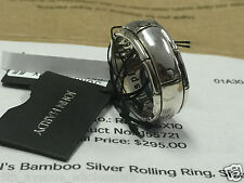 RARE VINTAGE NEW JOHN HARDY MENS BAMBOO SILVER ROLLING BAND RING SIZE 10