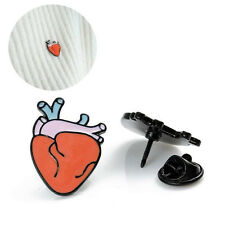 Novelty Fashion Heart Organ Design Brooches Pin Needle Collar Brooch Mini gift