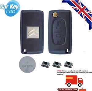 Fits CITROEN C4 Grand Picasso  C5 3 Button KEY REMOTE CASE Repair Fix Kit CE0536