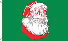 5' x 3' Santa Face Flag Happy Xmas Green Merry Christmas Party Flags Banner