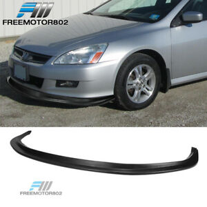 Trunk Spoiler Compatible With 2006-2007 Honda Accord Factory Style Unpainted Black ABS Plastic Added On Rear Deck Lip Wing Bodykits by IKON MOTORSPORTS
