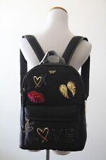 Victoria's Secret Runway Patch City Backpack 3715 49 9HM Black