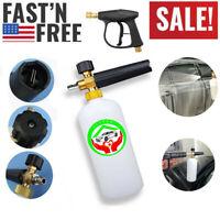 """1/4"""" Pressure Washer Snow Foam Lance Cannon Gun Soap Bottle Car Foamer Wash Jet"""