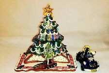 Blue Sky Clayworks Christmas Tree Store & Car W/ P. Bear Heather Goldminc 2002