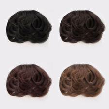 100% Real Natural Curly Hair Extension Clip In Front Hair Bangs Fringe Human