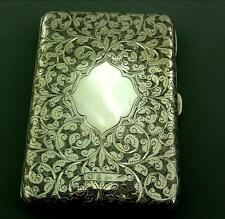 ANTIQUE VICTORIAN SOLID STERLING SILVER CARD CASE