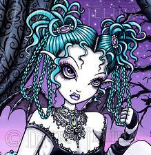 Gothic Fairy Couture Tea Party Rag Doll 11x14 Myka Jelina Art PRINT Makayla